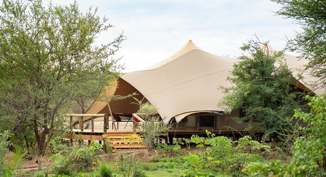 tlouwana camp near Chobe National Park in Botswana