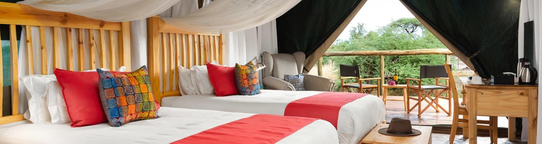 Tlouwana Camp I Luxury tented camp accommodation in Botswana